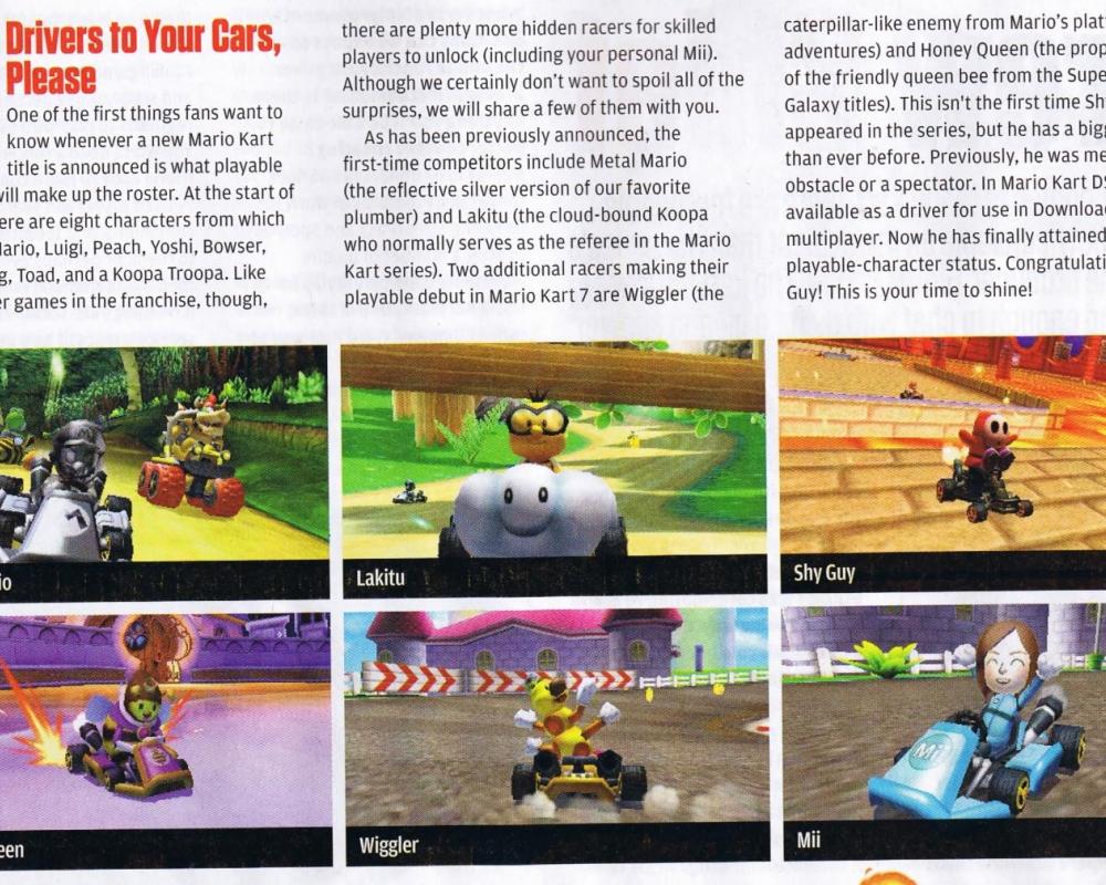 De nouveaux personnages pour mario kart 7 lightningamer - Personnage mario kart 7 ...