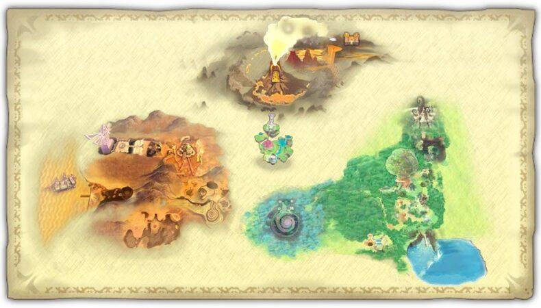 The Legend of Zelda Skyward Sword map