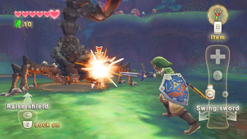 The Legend of Zelda Skyward Sword fight 1