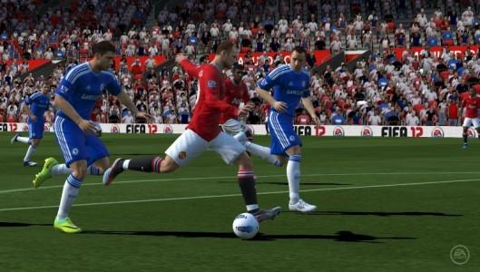 joueurs de foot en pleine action