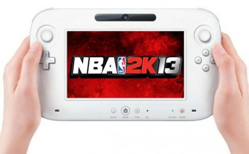 NBA 2K13 logo Nintendo Wii U Gamepad