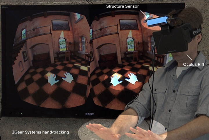 Structure Sensor + oculus