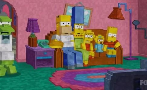 Les Simpson  hommage à Minecraft