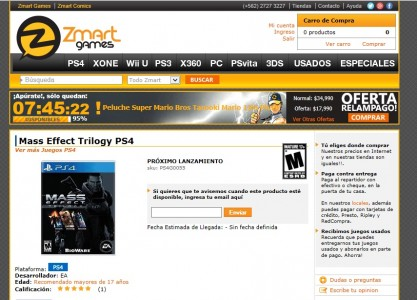 Mass effect trilogy sur Ps4