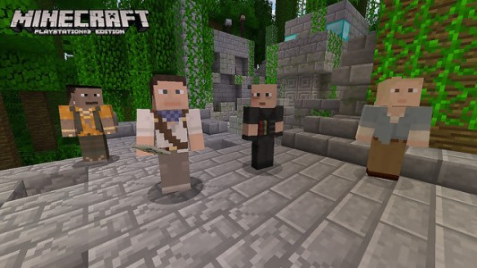 Minecraft des skins Uncharted pour PlayStation 3