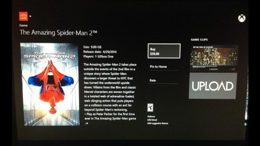 The Amazing Spider-Man 2 sur xbox one