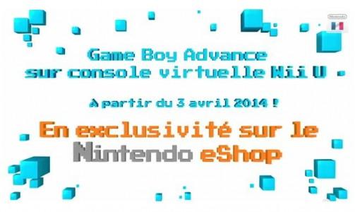 Wii U les jeux GameBoy Advance sont disponibles