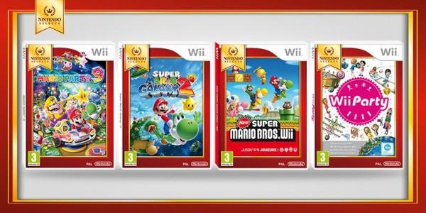 Wii quatre nouveaux jeux dans la game Nintendo Selects