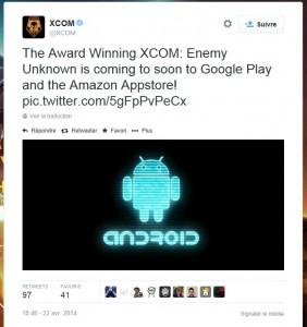 Xcom sous android