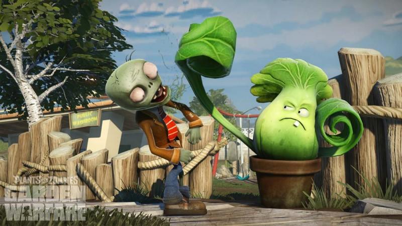 Test Plants vs zombies garden warfare un zombie et une plante