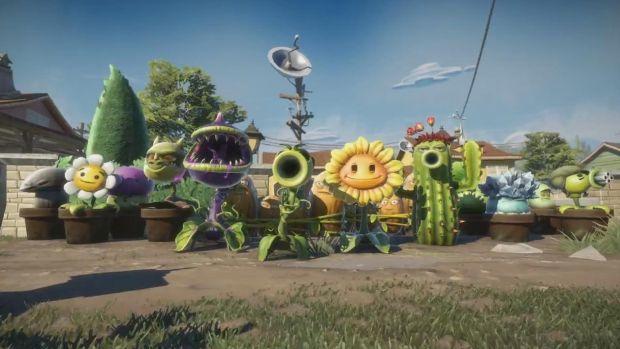 Plants Vs Zombies Garden Warfare mordeur pisto pois tournesol cactus