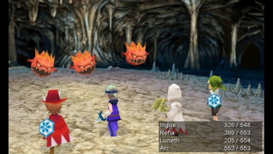 final fantasy III PC graphismes
