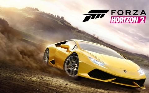 Forza Horizon 2 Ferrari jaune sur le sable