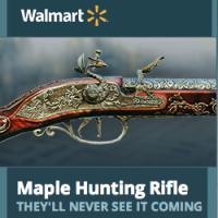 fusil de chasse d'érable