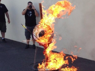 Neversoft logo burning