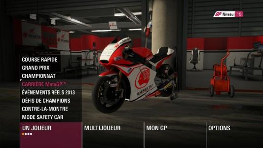 MotoGP 14 sélection moto