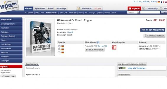 Rumeurs : Assassin's Creed de Comet à Rogue  (02)