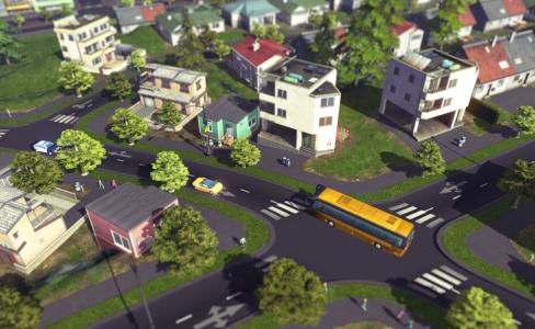 Quartie de maisons dans Cities Skyliness