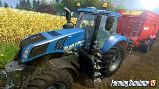 Farming Simulator 15  tracteur bleu
