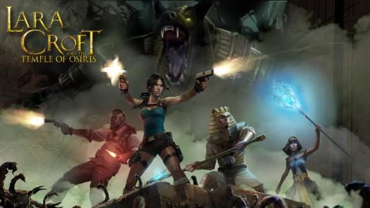 Lara Croft et ses alliés devant Seth