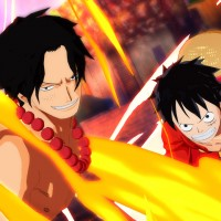 Ace et Luffy dans One Piece Unlimited World Red