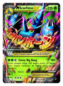 Carte Mega Scarhino EX Poings Furieux
