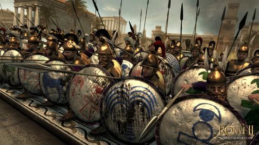 Bataillon d'armée avec boucliers de Total War Rome II