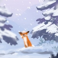 Renard de Seasons after Fall dans la neige