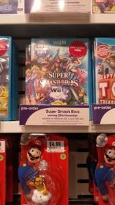 étalage Super Smash bros for Wii U date de sortie