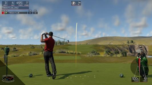 Frappe de balle dans The Golf Club