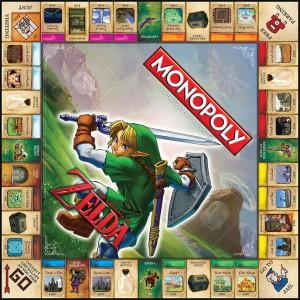 Plateau de jeu Monopoly The Legend of Zelda