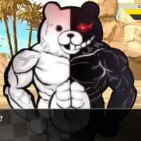 Monokuma en mode muscles