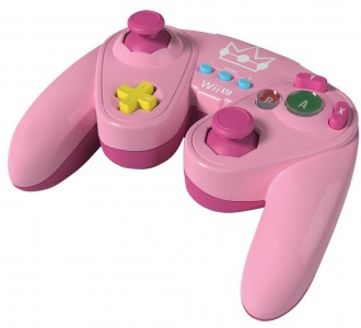 Manette Fight Pad pour Wii U Peach