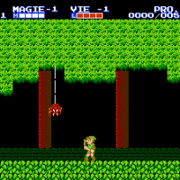 La vue de profil de Zelda 2 - The adventure of Link