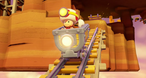 Captain Toad en wagon