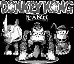 Donkey Kong Land Screen Title