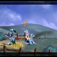 Dust: An Elysian Tail paysage campagnard et PNJ