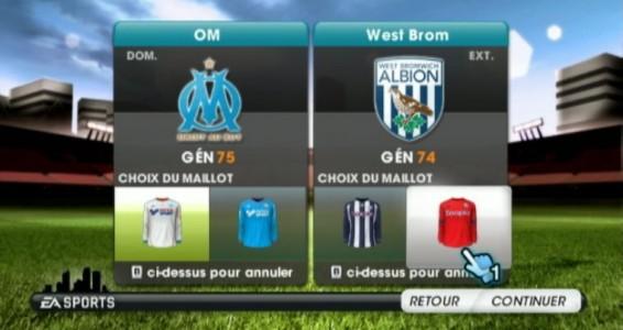 FIFA 13 Wii menu
