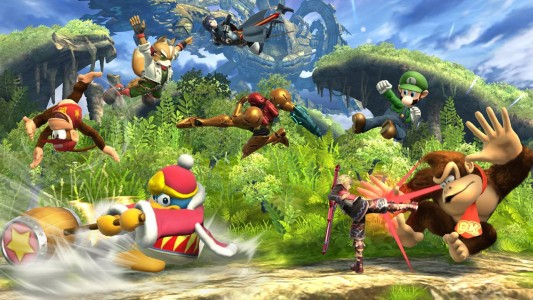 Super Smash bros. for Wii U Huit personnages