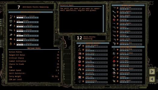 Wasteland 2 capacités