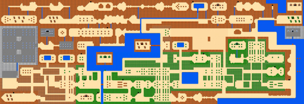 The Legend of Zelda  Carte