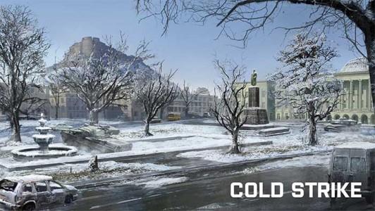 la ville sous la neige de cold strike