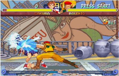 Street Fighter Alpha 2 combat