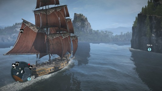 Assassin's Creed Rogue balade en bâteau