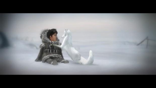Numa et son renard des neiges