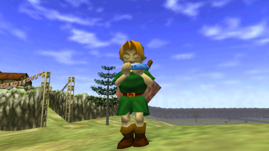 The Legend of Zelda - Ocarina of Time ocarina Link