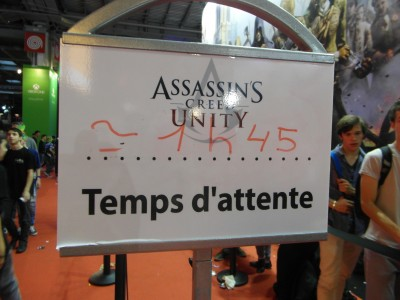 assassin's creed unity , temps d'attente