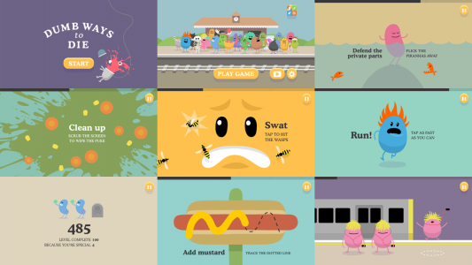 Dumb Ways to Die morts