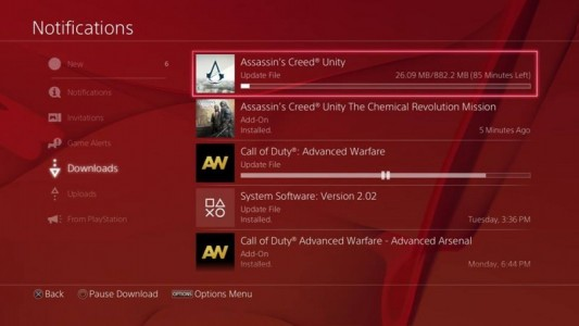 patch ps4 Assassin's Creed unity