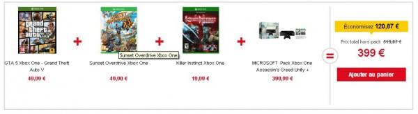 Pack Xbox One Assassin's Creed, GTA 5, Sunset Overdrive, Killer Instinct